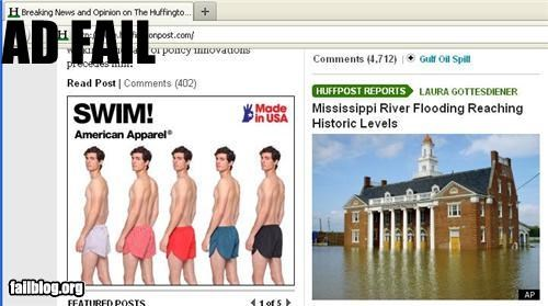Ad,failboat,flood,g rated,juxtaposition,Mississippi River,water