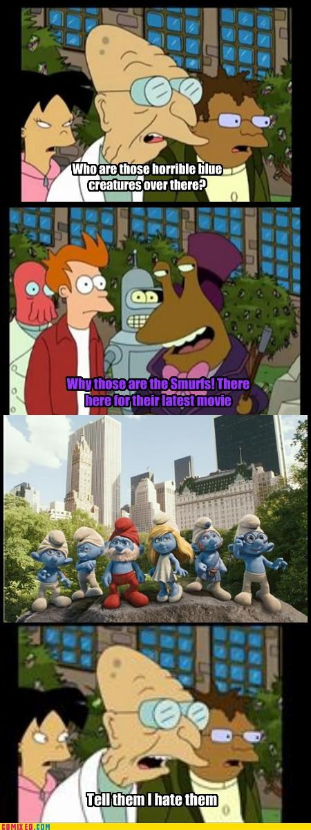 annoying From the Movies futurama smurfs - 4753505792