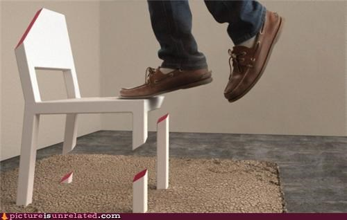 chair impossible magnets physics wtf - 4753666048