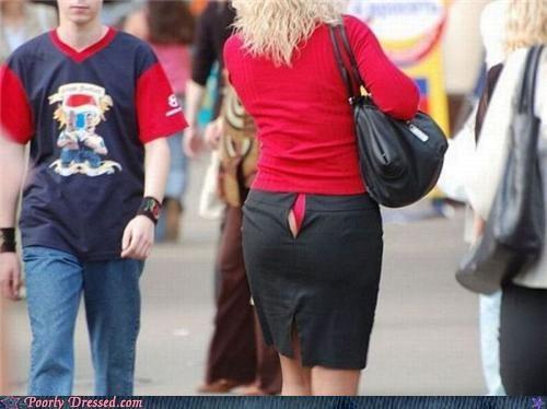skirt tear tearing apart underwear