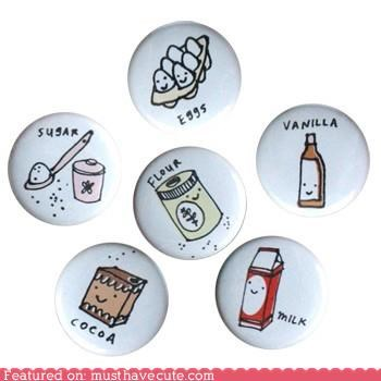 baking buttons ingredients pins sweets
