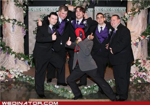 funny wedding photos Groomsmen mexican wrestler