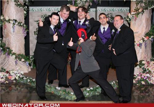 funny wedding photos Groomsmen mexican wrestler - 4754082560