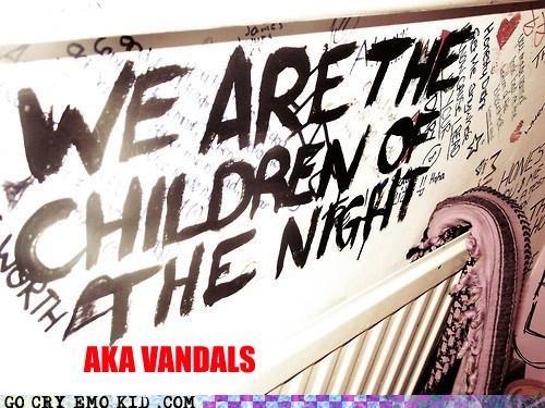 children of the night,emolulz,graffiti,vandals