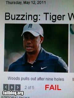caption failboat golf headline innuendo Tiger Woods - 4754114816