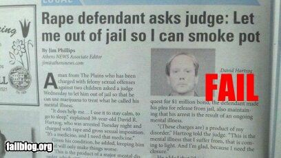 failboat judge law marijuana pot Probably bad News rapist - 4754133760