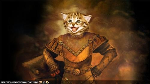 around the interwebs,Happy Kitten,knight,medieval,photoshopped