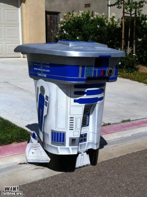 nerdgasm,r2-d2,star wars,trash can