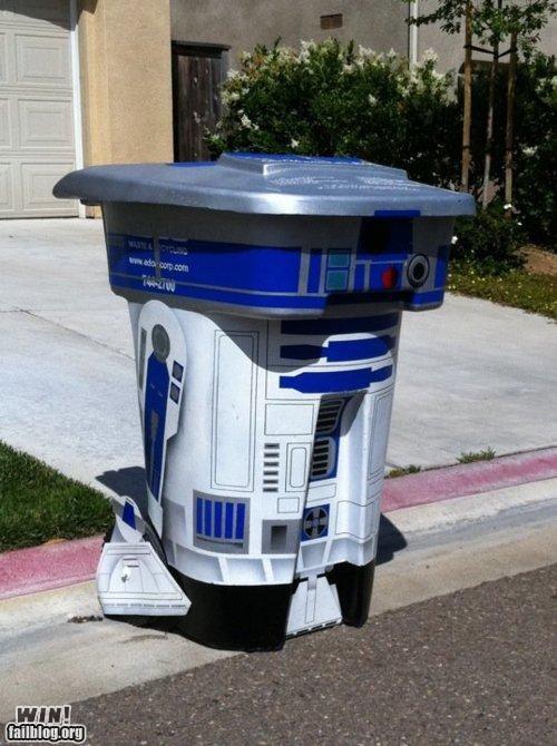 nerdgasm r2-d2 star wars trash can - 4754341632