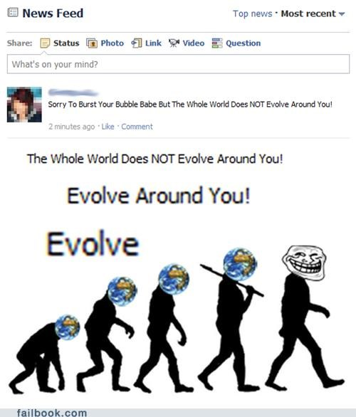 evolution the world doesn't evolve around you failbook g rated - 4754410240