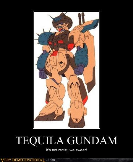 anime,gundam,hilarious,Mexican,racist,tequila