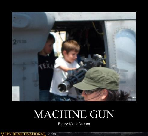 hilarious kids machine gun military