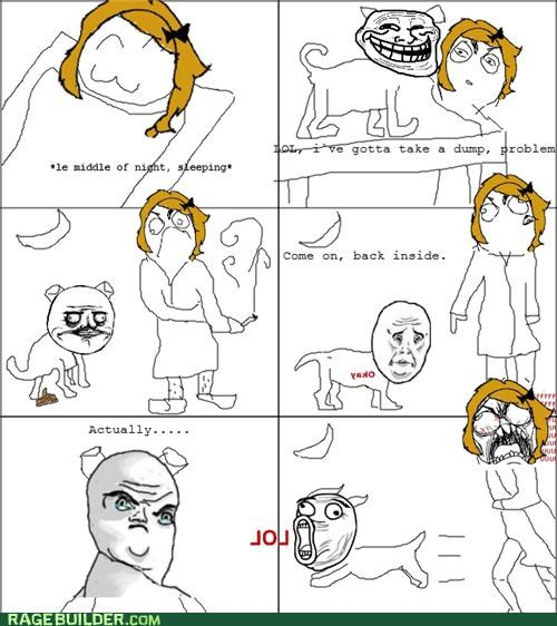 dogs pug Rage Comics troll ugh animals - 4754646016