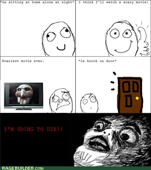 Death,die,movies,Rage Comics,saw,scary