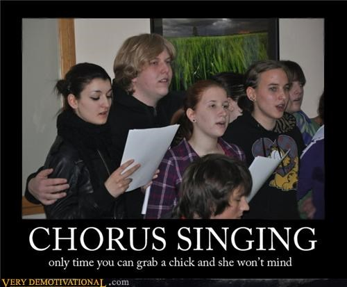 chorus,grab,kids,lady,Pure Awesome,singing