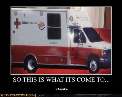 advertising,ambulance,america,burger king,hilarious