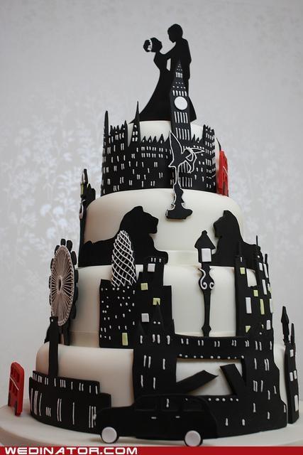 funny wedding photos London wedding cakes - 4755099904