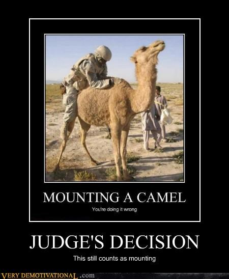 JUDGE'S DECISION This still counts as mounting