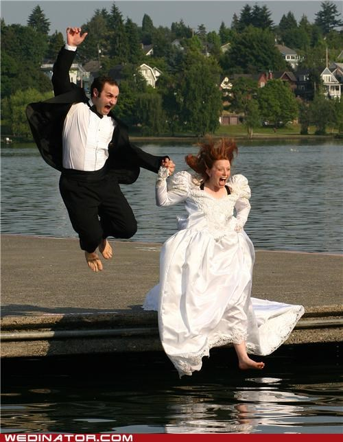 awesome jumping picture,bride,funny wedding photos,groom,Hall of Fame