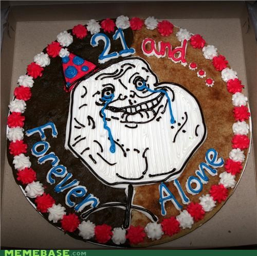 21 birthday cake delicious forever alone IRL - 4755678464