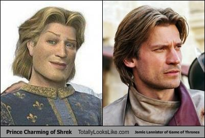 actors Game of Thrones Hall of Fame Jamie Lannister movies prince charming shrek TV