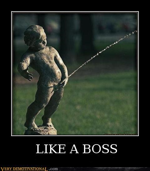 Like a Boss pee Pure Awesome statue