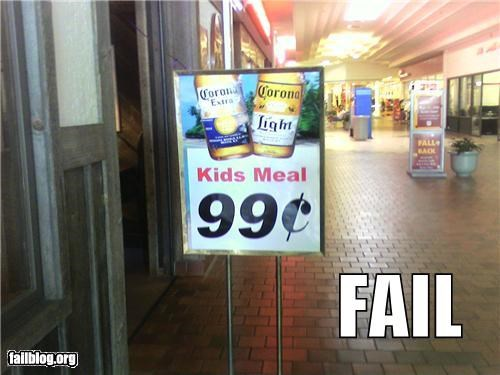 alcohol drinker failboat g rated juxtaposition kids kids meal restaurant underage