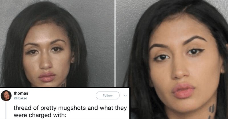mugshots of attractive women