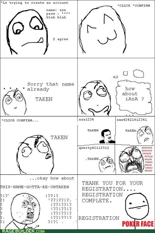 Rage Comics,registration,story,true