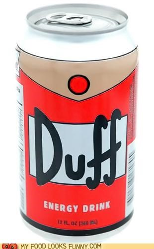 beer can duff energy drink label simpsons