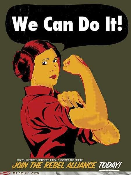 Princess Leia,rosie the riveter,star wars