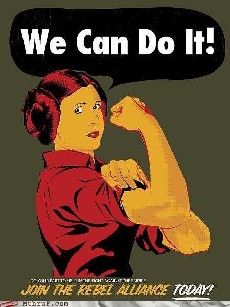 Princess Leia rosie the riveter star wars - 4757710592