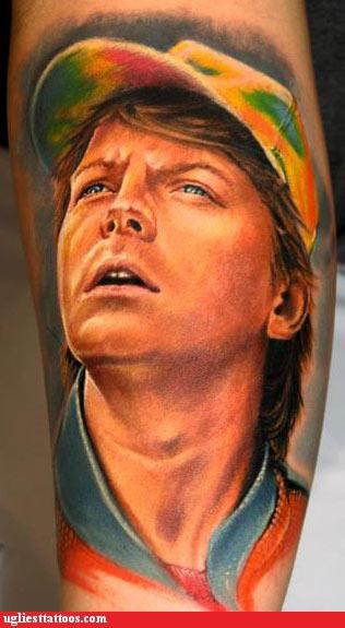 back to the future tattoos funny marty mcfly