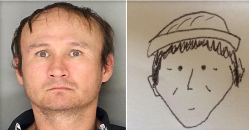 Funny amateur police sketch, lancaster pennsylvania, nguyen, famer's market.