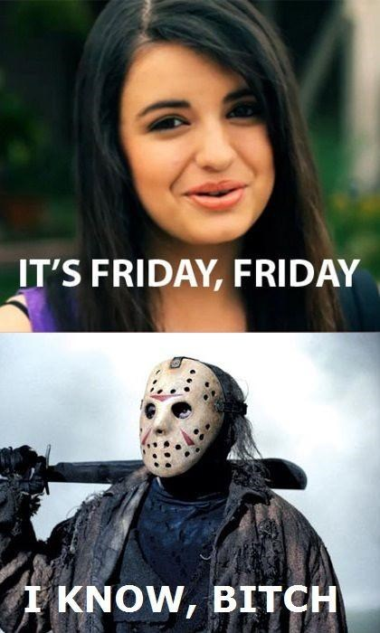 friday the 13th,jason,Killing In The Backseat,Obligatory,Rebecca Black