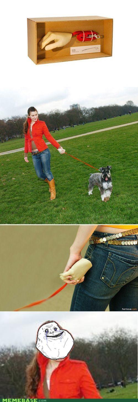 animemes dogs forever alone girl hands snouzer terrier walking - 4757943296