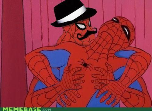 hat moustache Spider-Man superheroes tickle - 4757944064