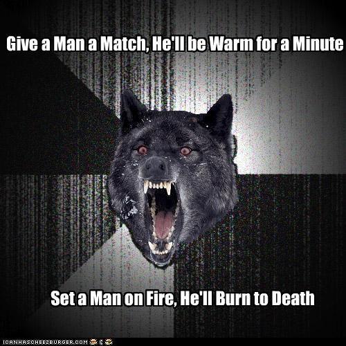 burn Death fire Insanity Wolf match - 4757949184