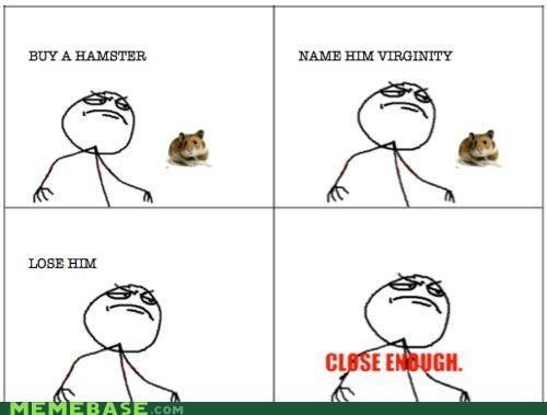 hamster,losing,Rage Comics,sex,twice,virginity