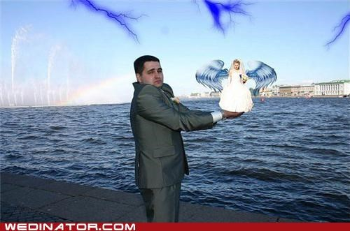 bad photoshop funny wedding photos russia tiny bride - 4758059776