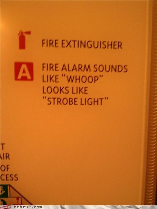 dance party fire alarm fire extinguisher