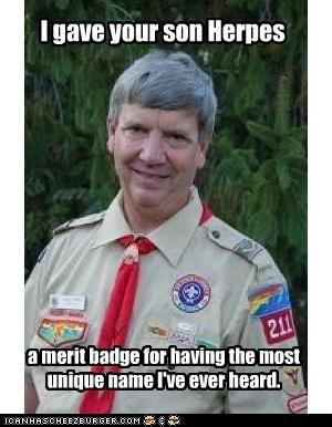 clap creepy scoutmaster herpes scout master unique - 4758785536