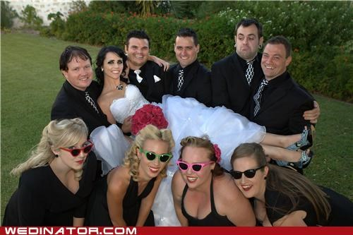carrying bride,funny wedding photos,stoner,sunglasses