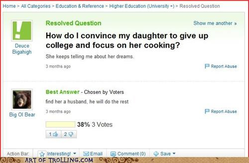 cooking kitchen women Yahoo Answer Fails - 4759153408