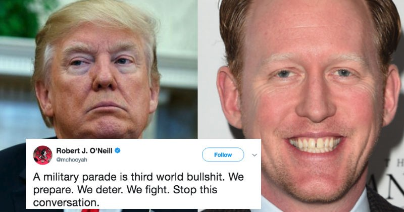 Navy Seal who was responsible for killing Bin Laden goes on a fiery twitter rant against Trump's parade idea.