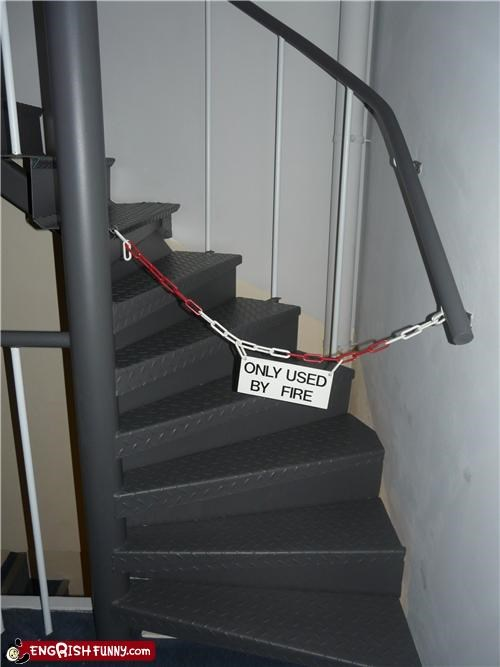 euro Engrish,sign,stairs,warning