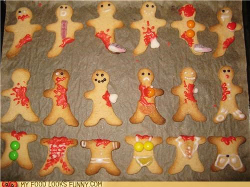 bloood bones cookies gingerbread men gore zombie - 4760806912