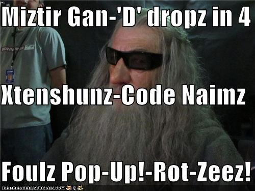 Miztir Gan-'D' dropz in 4 Xtenshunz-Code Naimz Foulz Pop-Up!-Rot