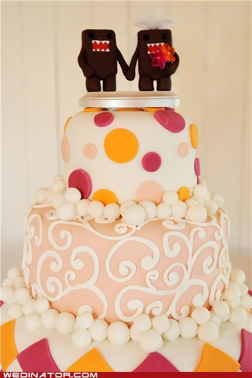 cake toppers,domo,funny wedding photos,wedding cake