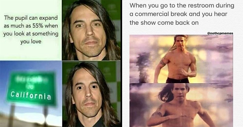 Funny memes about the red hot chili peppers, anthony kiedis, john frusciante, ugandan knuckles, rock and roll, rock memes, rock music, RHCP.